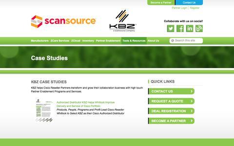 Screenshot of Case Studies Page kbz.com - Case Studies | KBZ - captured Jan. 18, 2016