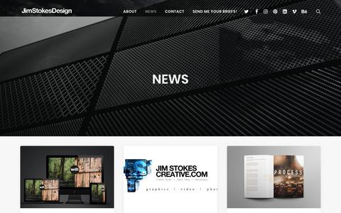 Screenshot of Press Page jimstokesdesign.com - News | Jim Stokes Design - captured Sept. 20, 2018