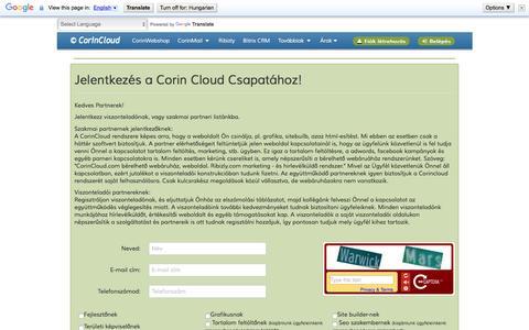 Screenshot of Login Page corincloud.com - CorinCloud.com - captured May 22, 2016