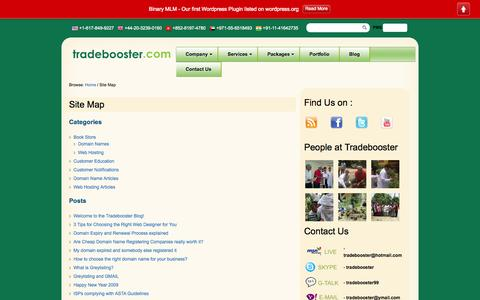 Screenshot of Site Map Page tradebooster.com - Site Map   Tradebooster - captured Oct. 1, 2014