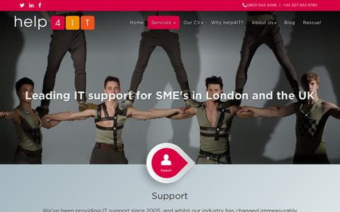 Screenshot of Support Page help4it.co.uk - Support - help4IT - captured Dec. 9, 2015