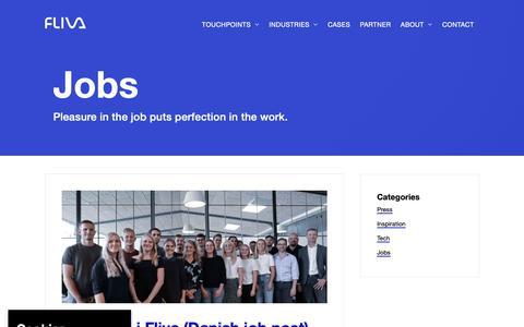Screenshot of Jobs Page fliva.com - Jobs Archives — Fliva - captured Oct. 4, 2018