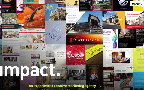 Screenshot of Home Page createwithimpact.com - Creative Design Agency Based in Kent | Create with Impact - captured Jan. 28, 2015