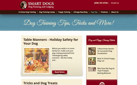 Screenshot of Blog smartdogstrainingandlodging.com - Dog Training Tips and Tricks - captured Oct. 20, 2018