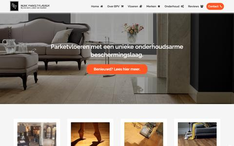 Screenshot of Home Page berkparketvloeren.nl - Berk Parketvloeren, dé specialist in parket, laminaat en visgraat. - captured Nov. 6, 2018