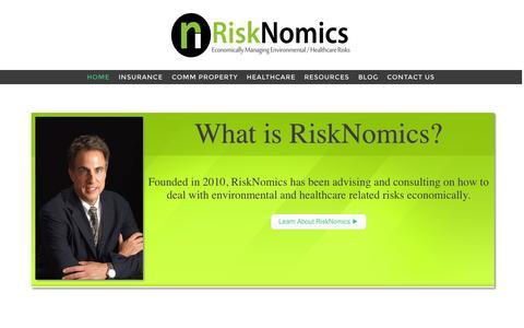 Screenshot of Home Page risknomicsllc.com - RiskNomicsLLC.com — - captured Jan. 22, 2015