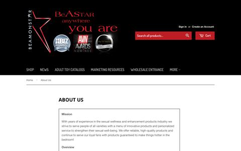 Screenshot of About Page beamonstar.com - About Us – Beamonstar - captured Sept. 24, 2018