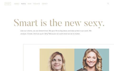 Screenshot of Team Page pivotmarketing.com - Meet the Team - Pivot Marketing | Smart is the new sexy. - captured July 19, 2018
