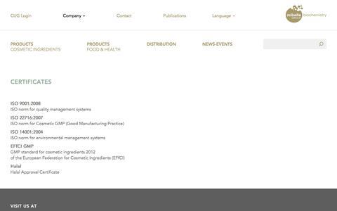 Certificates | Mibellebiochemistry