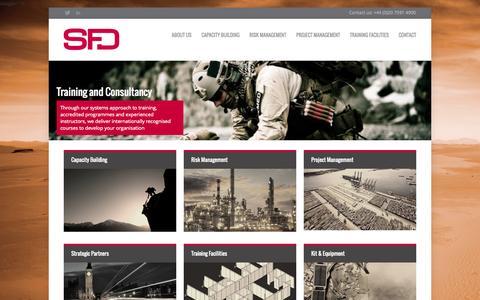 Screenshot of Home Page sfdglobal.com - SFD Global - captured Sept. 30, 2014