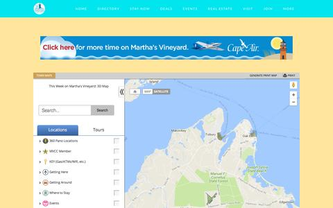 Screenshot of Maps & Directions Page mvy.com - Interactive Map - Martha's Vineyard Chamber of Commerce | Vineyard Haven, MA 02568 - captured Feb. 20, 2018