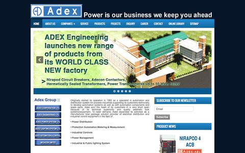 Screenshot of Home Page adexbd.com captured Oct. 4, 2014