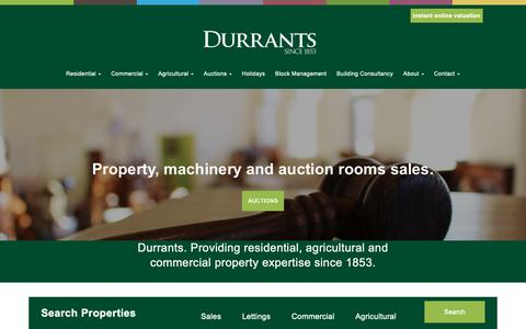 Screenshot of Home Page durrants.com - Durrants | Estate Agents in Norfolk and Suffolk - captured Dec. 14, 2018