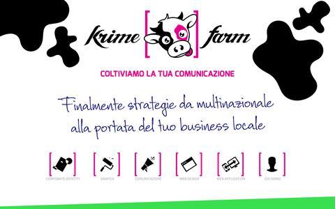 Screenshot of Home Page krimefarm.com - Krime Farm - Agenzia di Comunicazione Modena Carpi - Brand - Siti Web Carpi - Agenzia Pubblicitaria - Agenzia Web - Web - Foto - Grafica - Multimedia - captured Jan. 9, 2016