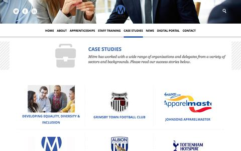 Screenshot of Case Studies Page mitregroup.co.uk - Case Studies - Mitre Group - captured July 4, 2018