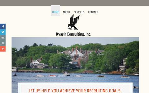 Screenshot of Home Page kvasirconsulting.com - Kvasir Rowing Recruiting - captured Oct. 6, 2014