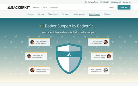 Screenshot of Support Page backerkit.com - Support - How it Works -      BackerKit - captured Dec. 4, 2016
