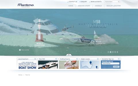 Screenshot of Home Page maritimo.com.au - Maritimo - Long Range Luxury Motoryachts - captured Oct. 6, 2014