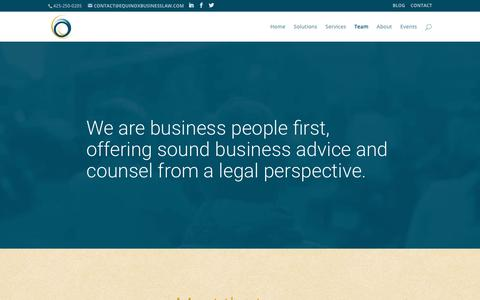 Screenshot of Team Page equinoxbusinesslaw.com - team | EQUINOX - captured Aug. 15, 2017