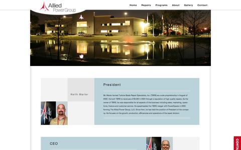 Screenshot of Team Page alliedpg.com - Allied Power Group - Houston Texas Leadership Staff - captured Oct. 4, 2014