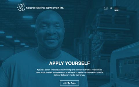 Screenshot of Jobs Page cng-inc.com - Careers - Central National-Gottesman Inc. - captured Jan. 30, 2016