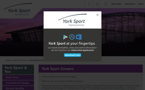Screenshot of Jobs Page york-sport.com - York Sport - captured June 4, 2016