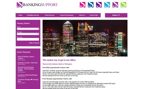 Screenshot of Maps & Directions Page bankingsupport.co.uk - Directions to Us - captured March 17, 2016