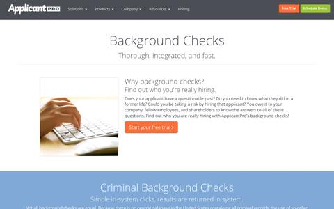 Background Checks | ApplicantPro