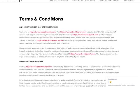 Terms & Conditions | Ebook Launch
