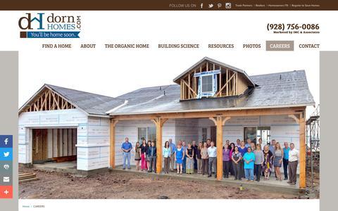 Screenshot of Jobs Page dornhomes.com - Careers at Dorn Homes - captured Aug. 19, 2017