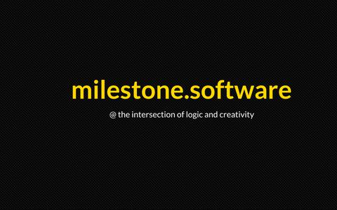 Screenshot of Home Page milesoftinc.com - milestone.software - captured Sept. 25, 2018