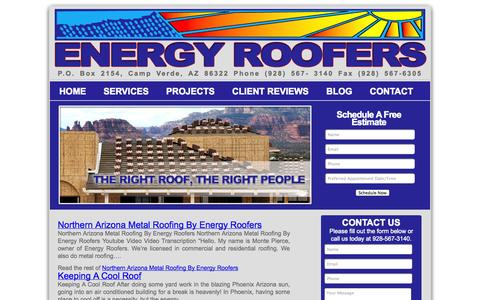 Screenshot of Blog energyroofers.com - Energy Roofers - captured Sept. 30, 2014