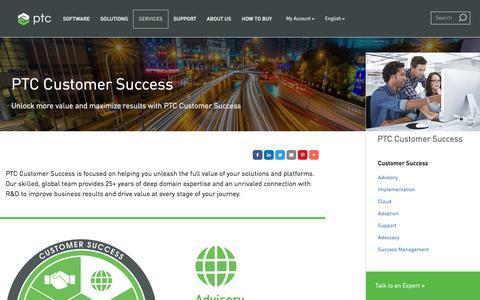 Screenshot of Services Page ptc.com - PTC Customer Success | PTC - captured June 26, 2017