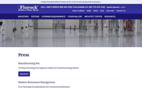 Screenshot of Press Page florock.net - Press - Florock - captured Oct. 10, 2018