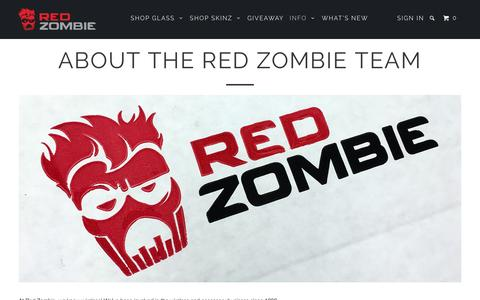 Screenshot of About Page redzombie.com - About the Red Zombie Team - captured Nov. 29, 2016
