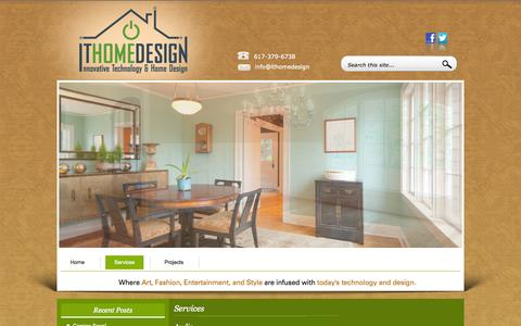 Screenshot of Services Page ithomedesign.com - Services :ITHomeDesign - captured Sept. 30, 2014