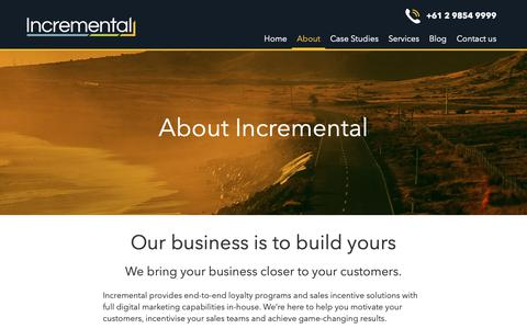 Screenshot of About Page incremental.com.au - About Incremental - Incremental - captured Oct. 19, 2018