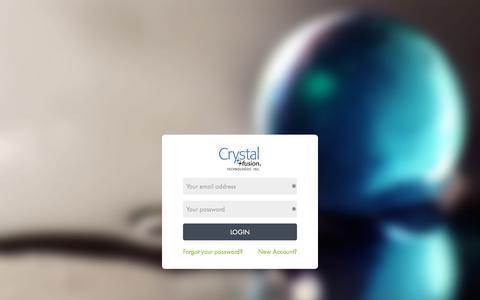 Screenshot of Login Page cftproducts.com - Crystal Fusion Technologies - captured Nov. 12, 2016