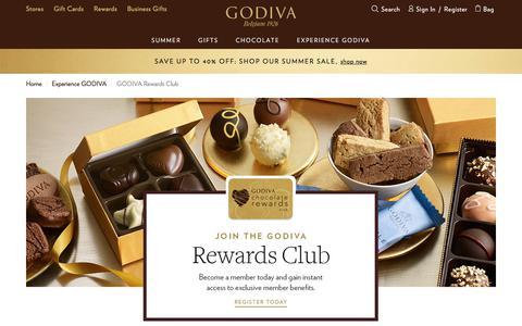 Screenshot of Signup Page godiva.com - GODIVA Rewards Club | GODIVA - captured Aug. 20, 2017