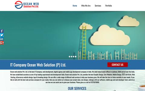 Screenshot of Home Page oceanwebsolution.com - Web Development | Web Design | Software Company in Lucknow - captured Nov. 1, 2017