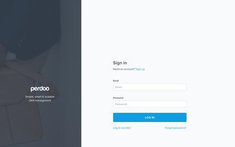 Screenshot of Login Page perdoo.com - Login - Perdoo - captured July 12, 2018