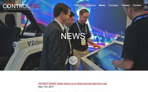 Screenshot of Press Page control-tec.com - Control Tec - captured May 12, 2017