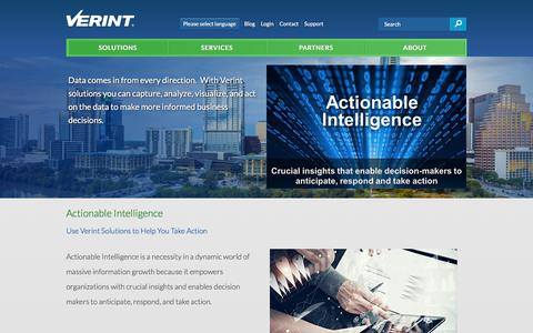 Actionable Intelligence Platform and Technologies | Verint Systems