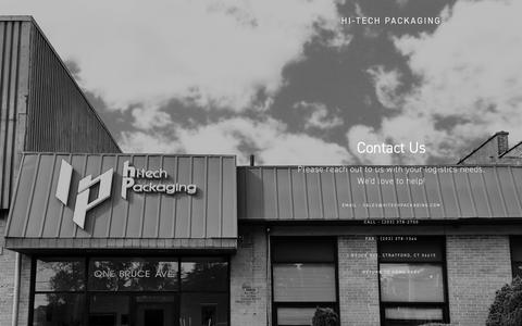 Screenshot of Contact Page hitechpackaging.com - Contact Us — Hi-Tech Packaging - captured July 13, 2018