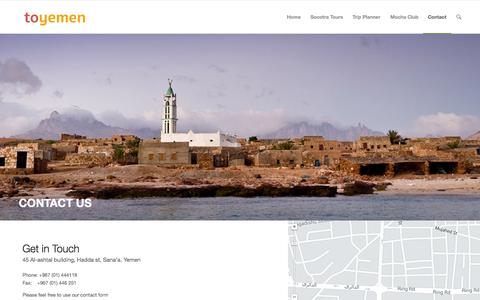 Screenshot of Contact Page toyemen.com - toyemen |   Contact - captured Aug. 15, 2015