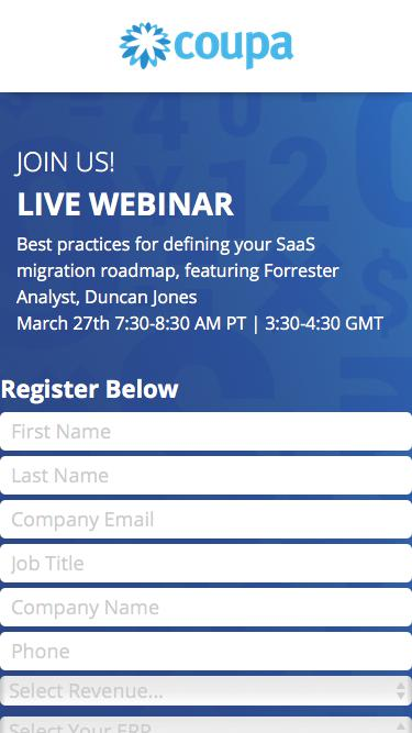 Webinar: SaaS Business Applications Are The Foundation Of Digital Transformation