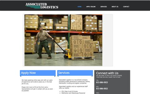 Screenshot of Home Page associated-logistics.net - Associated Logistics - Associated With Your Staffing Needs - captured Oct. 5, 2014