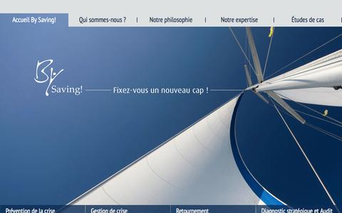 Screenshot of Home Page bysaving.fr - By Saving! | Fixez-vous un nouveau cap ! | Fixez-vous un nouveau cap ! - captured Sept. 30, 2014