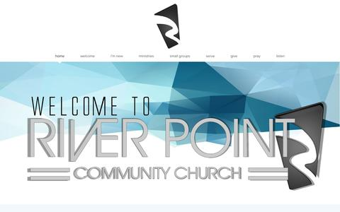 Screenshot of Home Page riverpointchurch.com - River Point Community Church | Home - captured Feb. 17, 2016