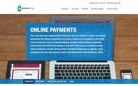 Online Payments – Donation Registration Product | Greater Giving - Greater Giving